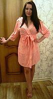 Халат женский короткий NS-8190 Nusa розовый, S