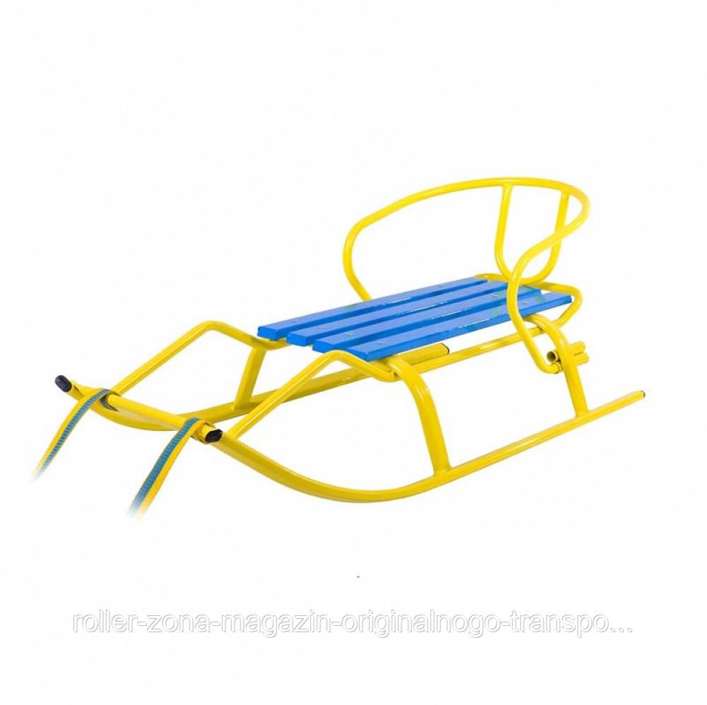 Детские Санки «Спорт F1 Патриот» желтые