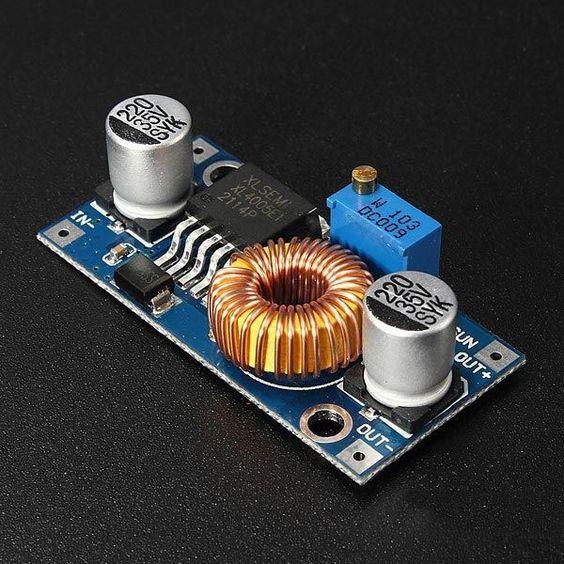 XL4005 стабілізатор модуль понижуючий DC-DC, 5-32 В - 0.8-24 В, 5 А
