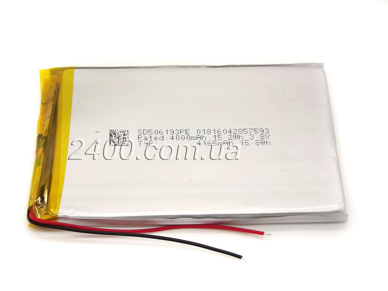 Аккумулятор 4100мАч 506193 мм 3,7в универсальный для планшета 3.7v 5*61*93 (4100mAh)