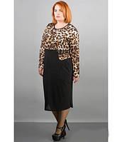Платье больших размеров Шерри р. 54-64 леопард