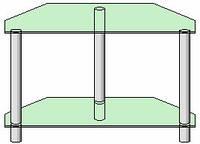 Система для ТВ аппаратуры - 2 (прозрачное стекло)