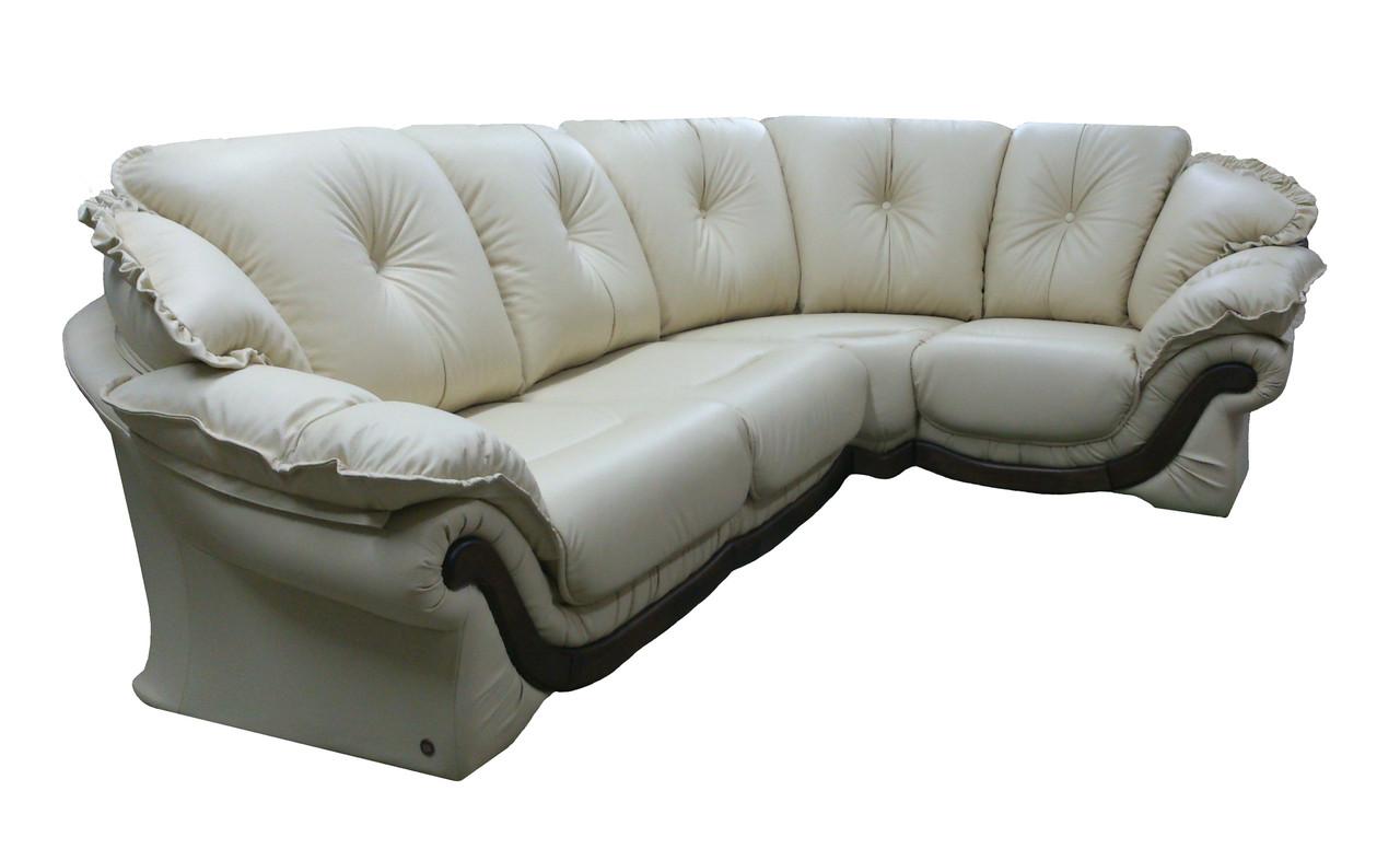 """Элегантный кожаный угловой диван  """"Pejton"""" (Пэйтон)"""