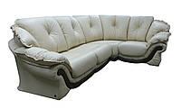 """Элегантный кожаный угловой диван  """"Loretta"""" (Лоретта) Французская раскладушка, ткань, Индивидуальный размер"""