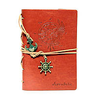 Стильный блокнот рыжего цвета (под кожу)