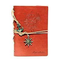 Стильный блокнот рыжего цвета (под кожу), фото 1