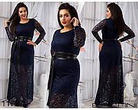 Гипюровое платье в пол - 11727