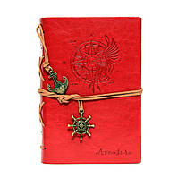 Стильный красный ежедневник (под кожу)