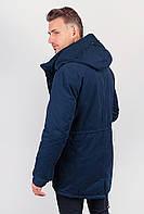Куртка (пуховик) зимняя, с капюшоном №225KF090 (Темно-синий)