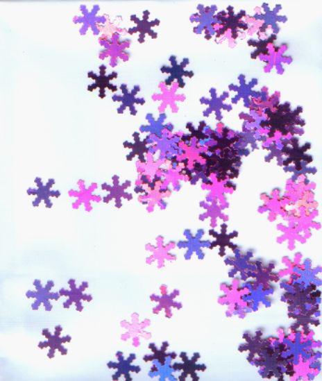 Снежинки для дизайна светло-сиреневые