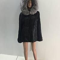 Куртка из стриженой нутрии (воротник чернобурка)