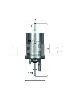 Купить Фильтр топливный MAHLE ORIGINAL KL156/3, Mahle Filter