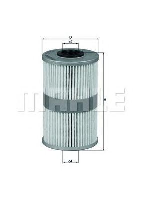 Купить Фильтр топливный MAHLE ORIGINAL KX204D, Mahle Filter
