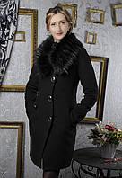 """Зимнее кашемировое женское пальто  """"Волна"""""""