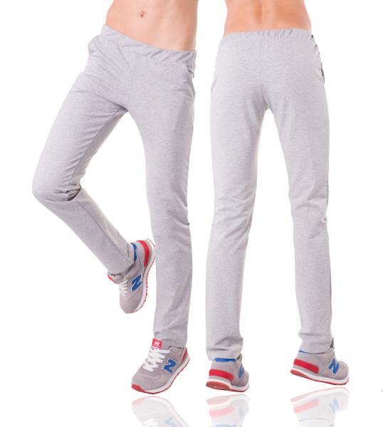 Серые спортивные штаны женские трикотажные прямые Украина