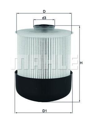 Купить Фильтр топливный MAHLE ORIGINAL KX338/26D, Mahle Filter