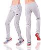 Спортивные штаны Найк (Nike) женские серые трикотажные прямые Украина