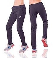 Спортивные штаны Найк (Nike) женские темно-синие трикотажные Украина