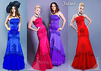 Платье в пол Эмма на заниженном корсете  до 52 размера