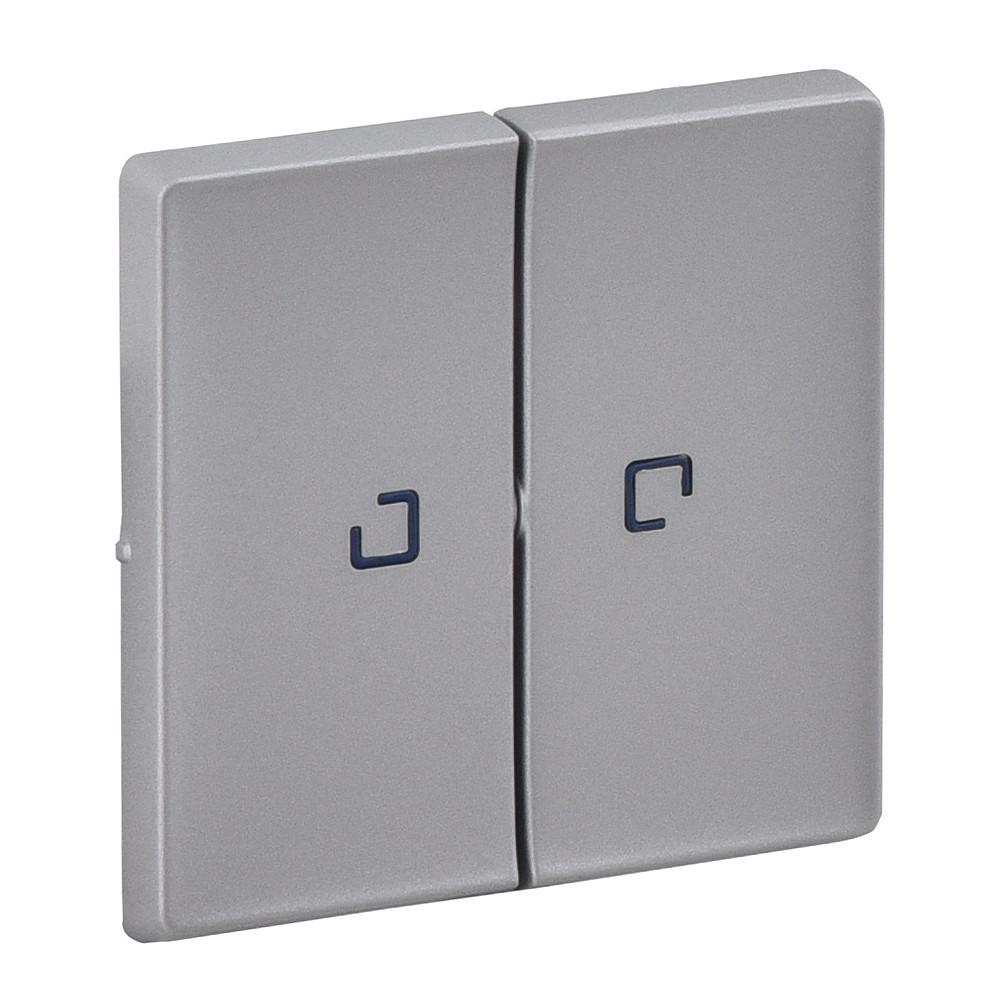 Клавіша вимикача 2-клавішного з підсвічуванням Valena LIFE алюміній