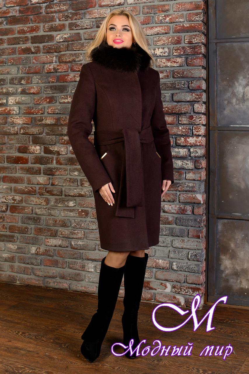 Женское зимнее пальто с красивым мехом р. S-L арт. Луара лайт зима песец 4085