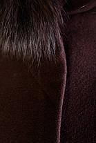 Женское зимнее пальто с красивым мехом р. S-L арт. Луара лайт зима песец 4085, фото 3