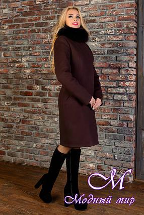 Женское зимнее пальто с красивым мехом р. S-L арт. Луара лайт зима песец 4085, фото 2