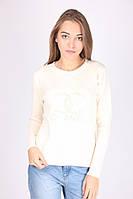 Шерстяная модная женская кофта Шанель цвет мокко