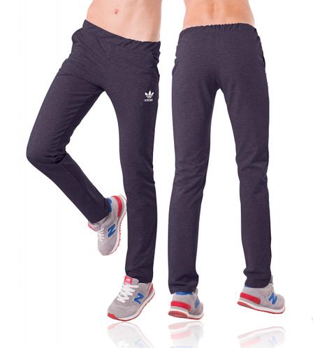 Спортивные штаны Адидас (Adidas) женские темно синие Украина