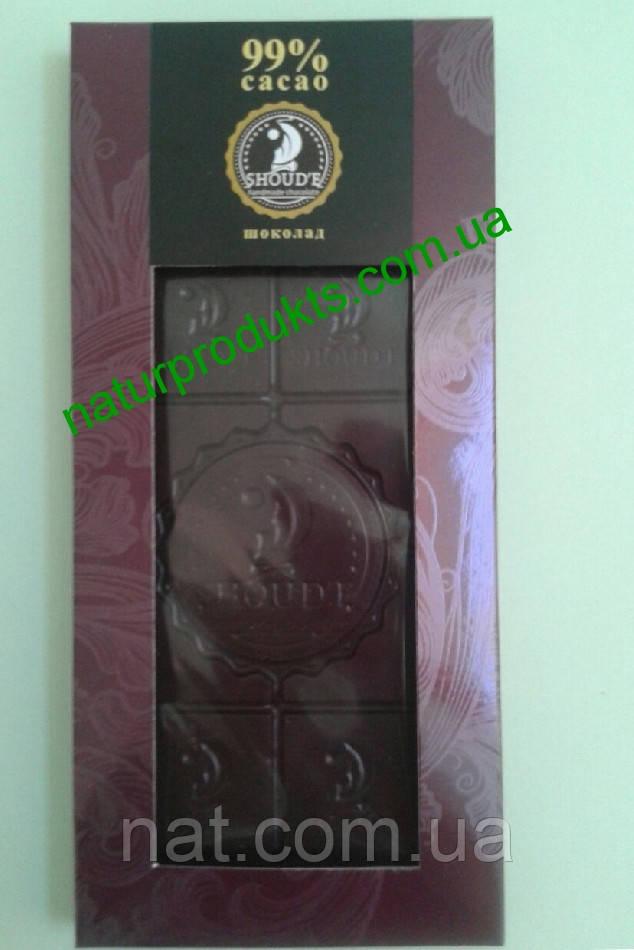 Натуральный шоколад ручной работы ТМ «Shoud'e» 99% какао, 50 г