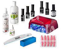 Полный набор для гель лака GGA Professional с Гибрид-Лампой на 36 ват