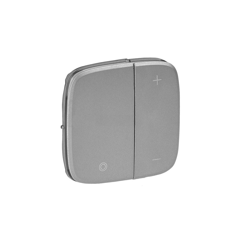 Лицевая панель светорегулятора нажимного Valena ALLURE алюминий