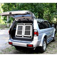 Автомобильный алюминиевый бокс для перевозки собак двухдверный (92*97*68см)Д-Ш-В