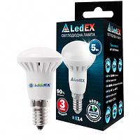 Светодиодная лампа LEDEX Premium 5W E14 R39 475lm 120º AC85-265V 4000К чип Epistar