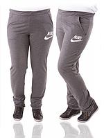 Спортивные штаны женские Найк (Nike) серые трикотажные Украина