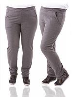 Спортивные брюки женские трикотажные прямые серого цвета Украина