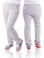Спортивные брюки женские больших размеров светло серые трикотажные батал Украина