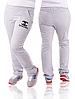 Спортивные штаны большого размера женские светло серые трикотажные батал Украина