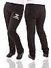 Спортивные штаны больших размеров женские черные трикотажные Украина