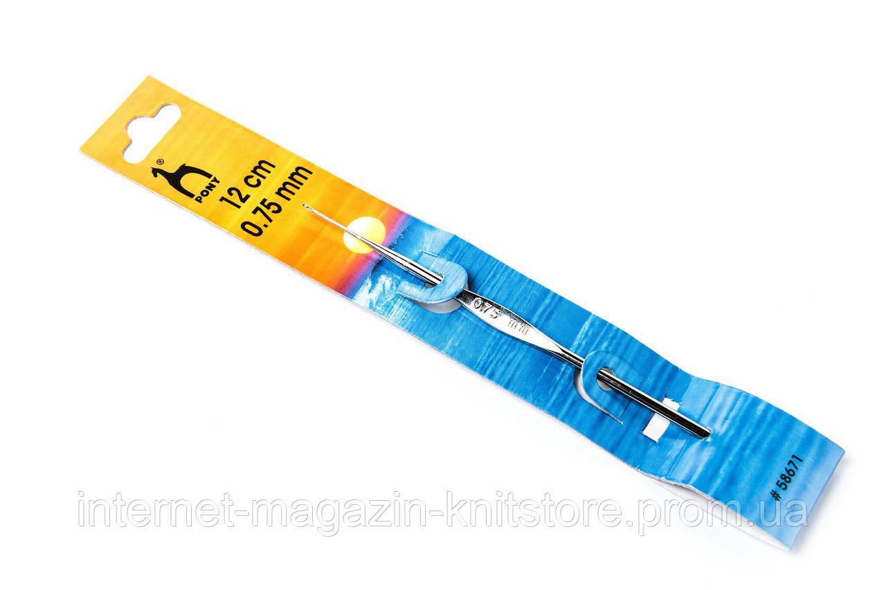 Крючок Pony   12 см   0.75 мм   без ручки