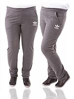 Спортивные штаны больших размеров женские серые трикотажные Украина