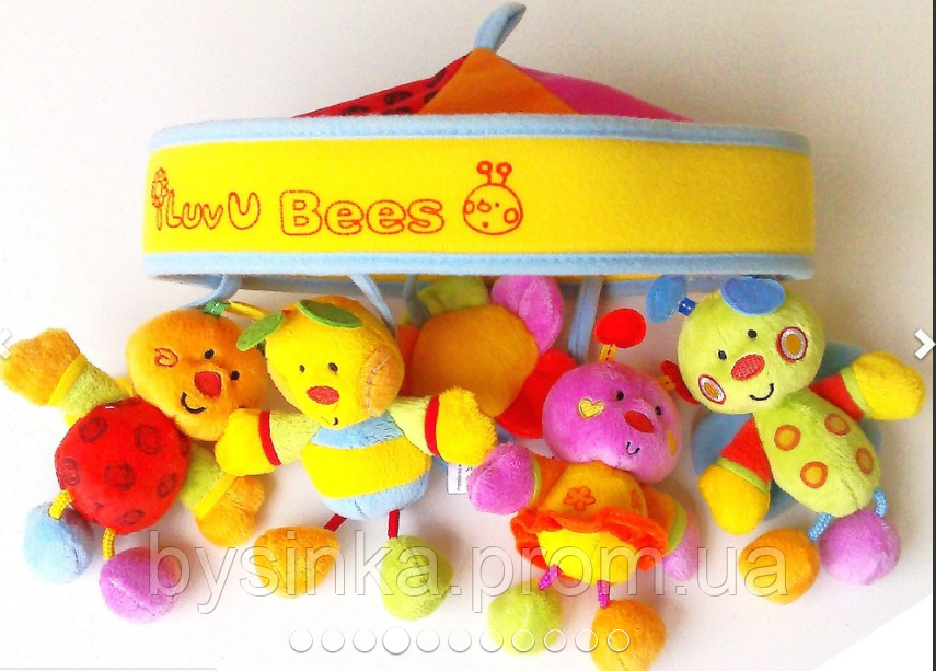 Мобиль музыкальный, Baby Mix - Карусель на кроватку мягкая игрушка 781МС