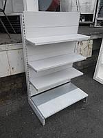Стеллажи торговые металлические, торговые стеллажи, стеллаж пристенный, металлические стеллажи, угловой стелла, фото 1