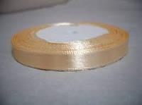 Тесьма атласная с люриксом(золото) 10мм 20м.Персик.