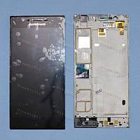 Оригинальный ЛСД экран и Тачскрин сенсор Lenovo K900 с рамкой модуль