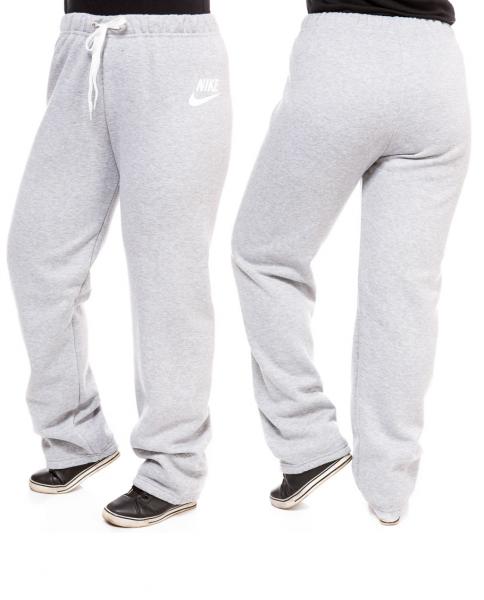 ТЕПЛЫЕ штаны большого размера женские в стиле на флисе зимние светло серые Украина