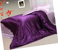 Атласные постельный комплекты комбинированные