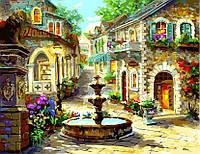 """Раскраски по номерам на холсте 40 × 50 см. """"Городской фонтан"""" худ. Nicky Boehme"""
