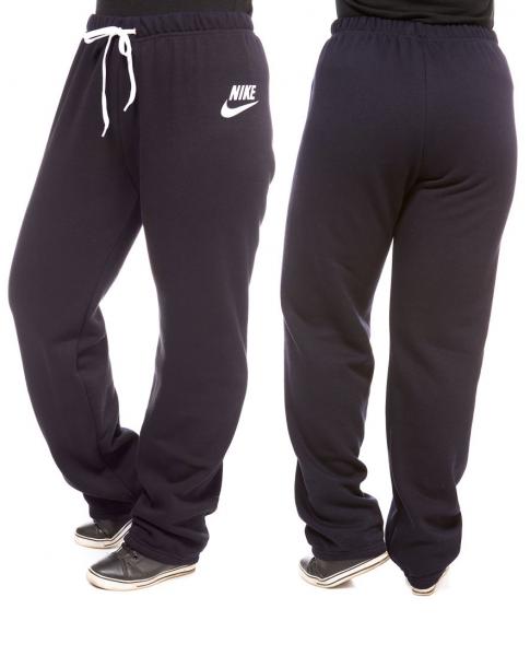 ТЕПЛЫЕ штаны большого размера женские в стиле на флисе зимние темно синие Украина
