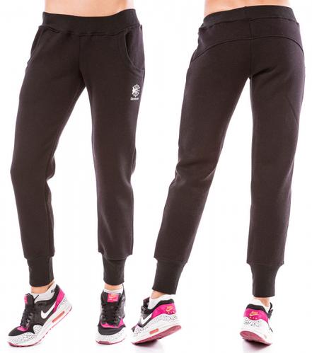ТЕПЛЫЕ спортивные штаны женские на флисе зимние с начесом черные Украина